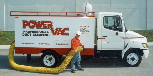 Power Vac Duct Cleaning Truck