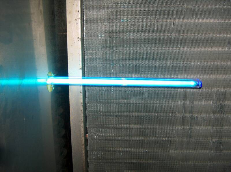 Ultraviolet light used in hvac