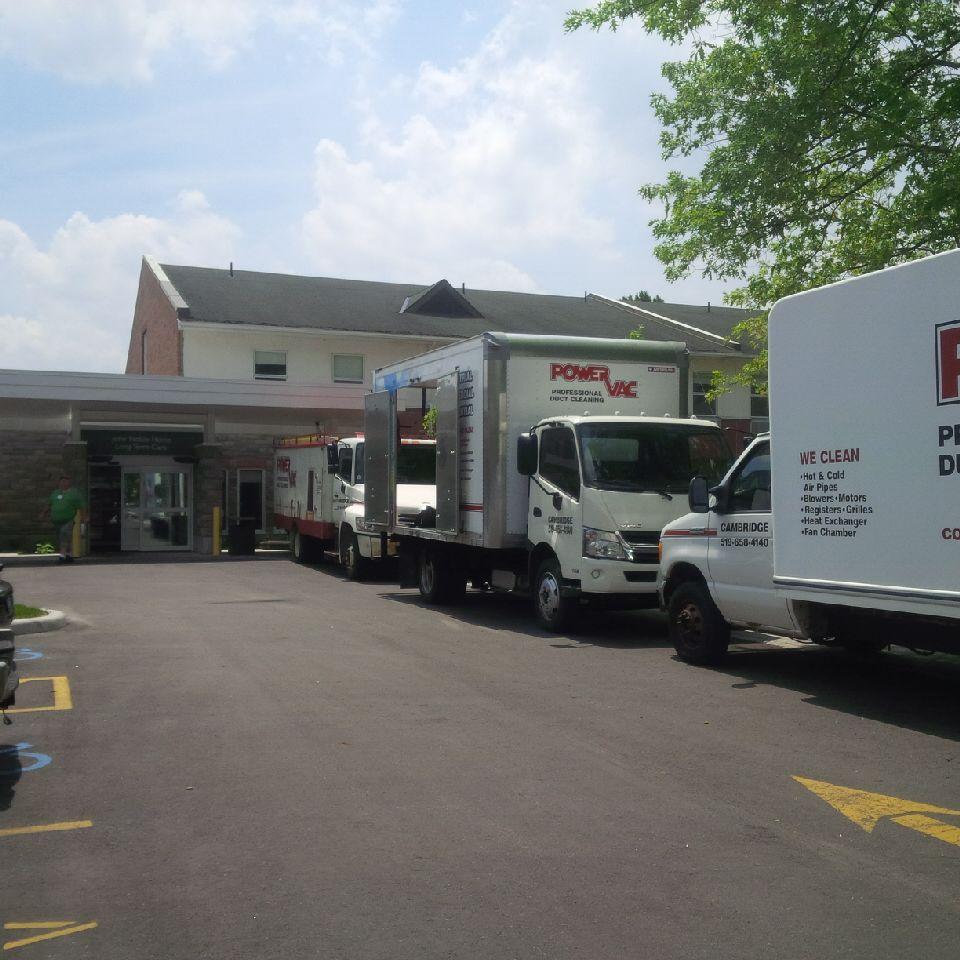Power Vac Trucks in parking lot