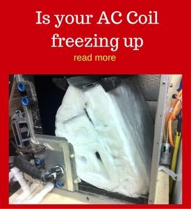 frozen ac coil